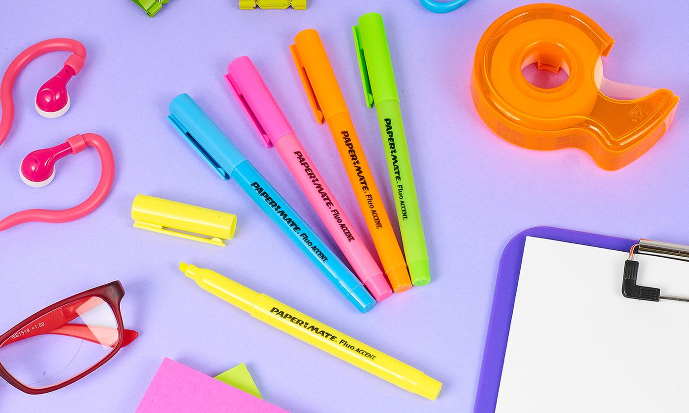 Set of 5, 10 or 20 Paper Mate Highlighters
