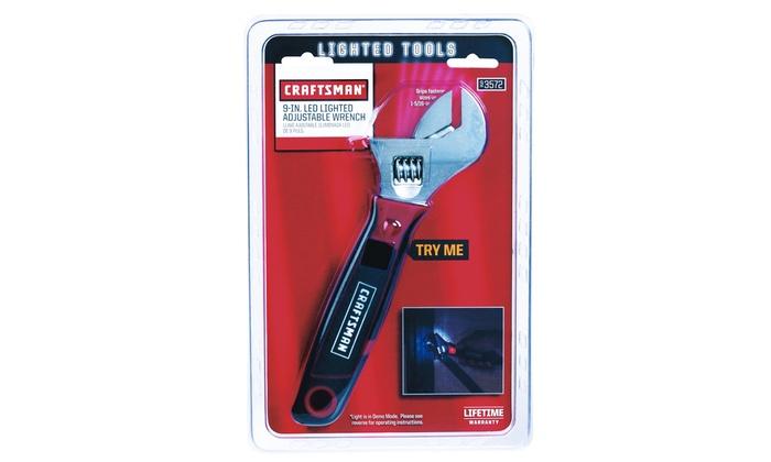Craftsman LED Lighted Adjustable Wrench