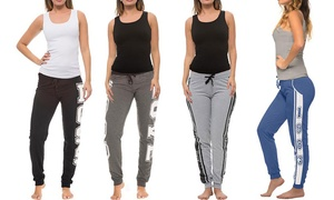 Coco Limon Women's Joggers and Tank Top Set (4-Pack)