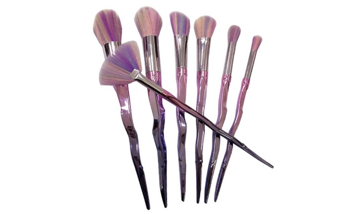 unicorn brush set. unicorn horn seven-piece make-up brush set 2