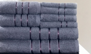 Lavish Home 100% Cotton Bath Towel Set (8-Piece)