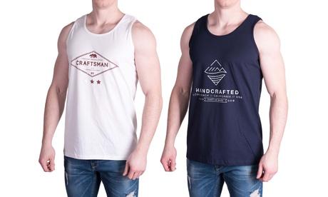Pack de 2 camisetas de algodón para hombre