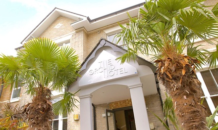 Bournemouth: 1 or 2 Nights for Two with Breakfast, Dinner and Glass of Wine at The Orchid Hotel