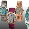 Bertha Genevieve Women's Watches with Mother of Pearl Peacock Dials