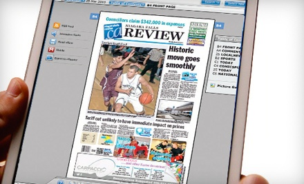 "$25 for One-Year Online Subscription to the ""Niagara Falls Review"" ($54.10 Value)"