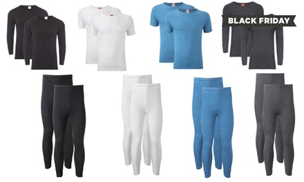 Men's Two Base Thermal Layers in Choice of Colour from £4.98