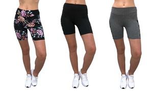 Hot Kiss Women's Bike Short with Net Insert (3-Pack)