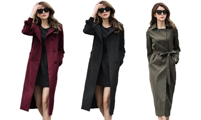 Tran Global Group Inc: Charlize Women's Trench Coat (Shipping Included)