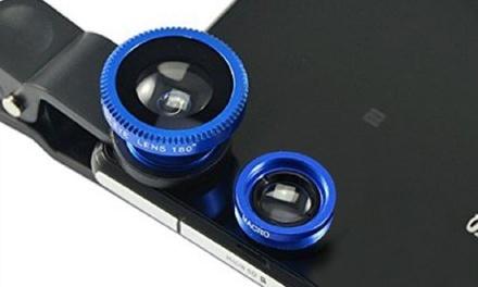 Set di 2 lenti universali obiettivo per smartphone, cellulari e tablet con 3 effetti