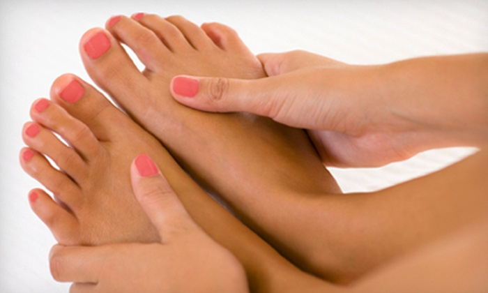 Zinc Spa and Nail Bar - Wrentham: Basic or Spa Mani-Pedi Package at Zinc Spa and Nail Bar in Wrentham (Up to 51% Off)