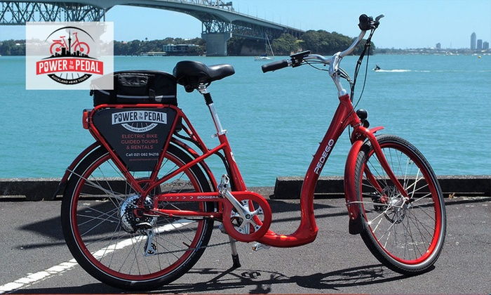Power To The Pedal - Auckland: Half-Day Electric Bike Hire for One ($29), Two ($55) or Four People ($99) from Power to the Pedal (Up to $180 Value)