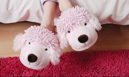 Aroma Home Fuzzy Friend Slippers