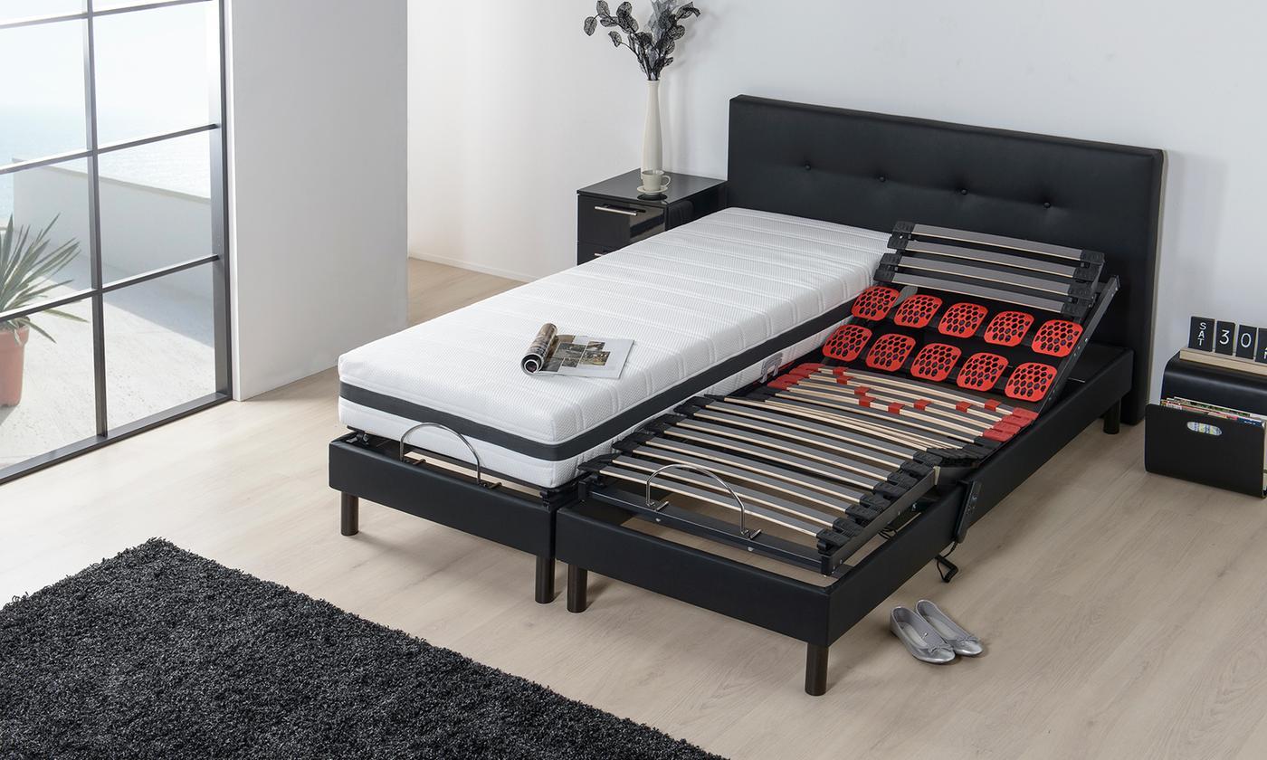 Literie électrique Flex Pur avec matelas inclus, avec tête de lit en option, livraison offerte