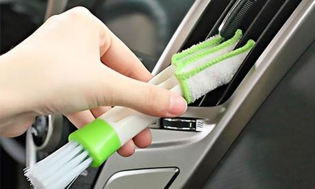 1 o 2 cepillos de 2 puntas para limpieza de vehículos y hogar