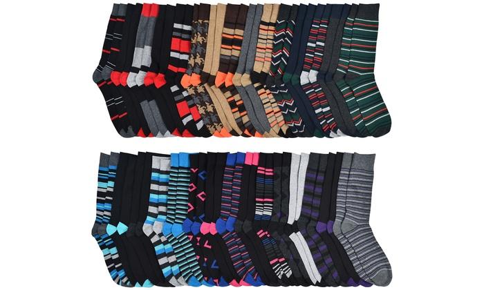 John Weitz Men's Premium Cotton-Blend Dress Socks (30-Pairs