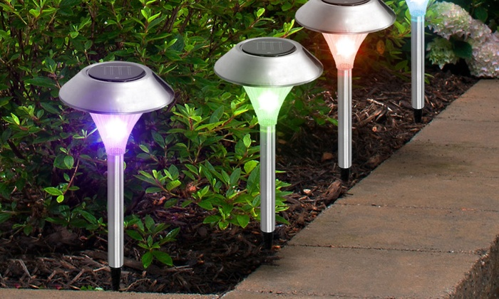 Solar Garden Color Changing Path Lights (8 , 12 , Or 24