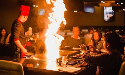 $95 Dish Wagyu Teppanyaki Feast with Sake for Two at Burwood Teppanyaki House Up to $190.50 Value