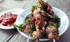 Royale vleesspies + friet/salade