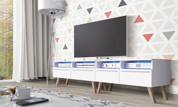 Scandinavisch Tv Meubel.Tot 50 Op Houten Tv Meubel Groupon Producten