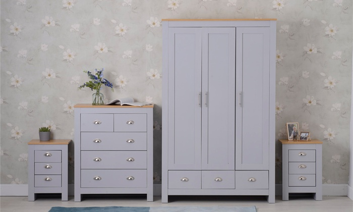 Country-Style Bedroom Chest, Bedside Table or Three-Piece Set