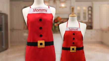 Personalized Santa Suit Apron for Adult or Children, or a Set of Both from Monogram Online (Up to 74% Off)