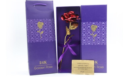 Valentines 24ct Gold-Plated Rose