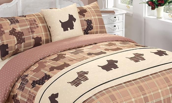 Scottie Dog Five Piece Bed Set Groupon Goods