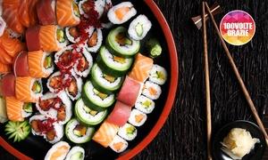Sushi Tei: Menu giapponese con 50 o 100 pezzi di sushi e vino per 2 o 4 persone da Sushi Tei (sconto fino a 70%)