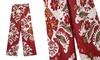 Women's Tailored Wide Leg Floral Pants
