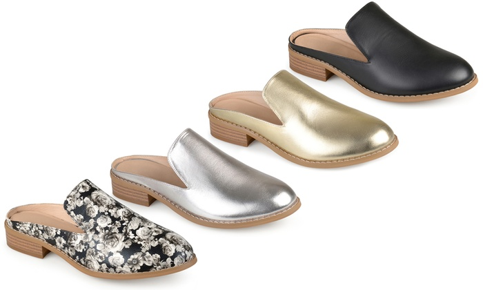 739d4548bc63 Journee Collection Women s Faux Leather Slide-On Mules