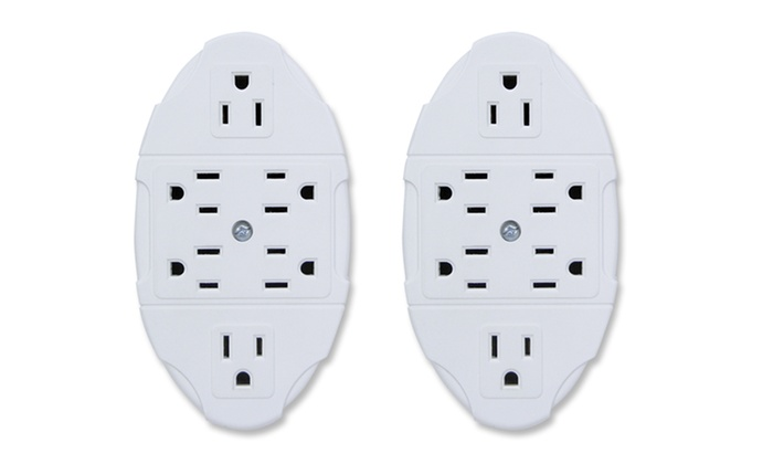 2 wall outlet multipliers groupon goods - Electrical outlet multiplier ...