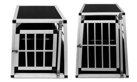 Leichte Alu-Hunde-Transportbox mit verschließbarer Tür in der Größe nach Wahl inkl. Versand