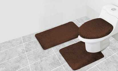Shop Groupon Restage Bathroom Rug Set (3 Piece)