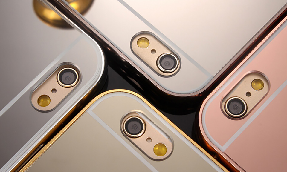 One or Two Metal Mirror Bumper Cases for iPhone From £5.99