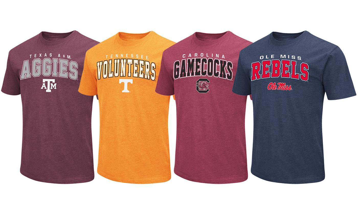 Colosseum NCAA Men's Slim Fit Dual-Blend Short-Sleeve T-Shirts