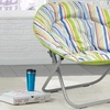Collapsible Striped Dish Chairs
