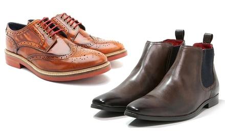 Base London Leder-Schuhe und Boots für Herren in den Größen 41-46 und in der Farbe nach Wahl (bis zu 35% sparen*)