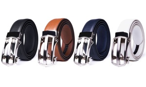 Men's Ratchet Buckle Leather Dress Belt