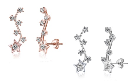 one or two pairs of philip jones crystal star climber earrings with crystals from swarovski®