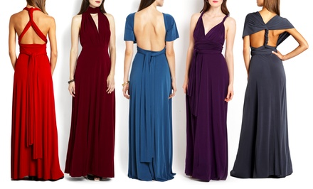 groupon daily deal - Von Vonni Full-Length Transformer Dress. Multiple Colors Available. Free Returns. | Brought to You by ideeli