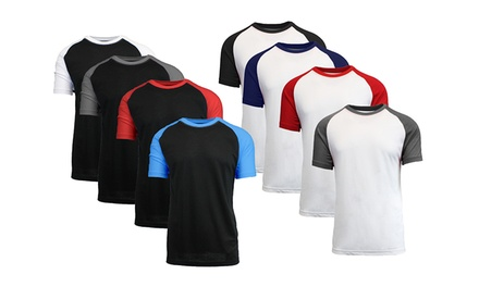 Galaxy by Harvic Men's Raglan T-Shirts (4-Pack)