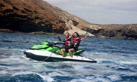 Excursión de 1 o 2 horas en moto de agua para 1, 2 o 4 personas desde 69,90€ en Jet Ski Safari Los Gigantes