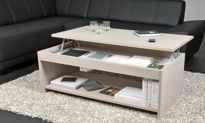 table basse relevable groupon. Black Bedroom Furniture Sets. Home Design Ideas