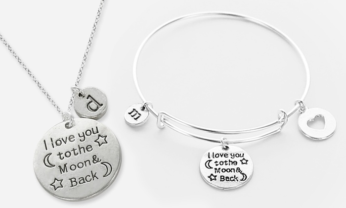 Monogram Online: Personalized Jewelry from Monogram Online (Up to 87% Off), Four Options Available.