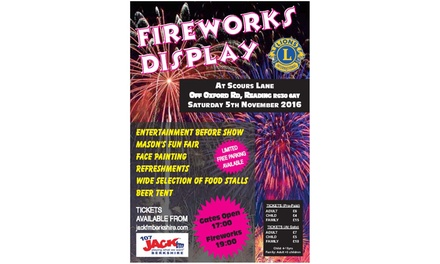 5 November Fireworks Display at the Prudential Ibis Club: Child, Adult or Family Ticket