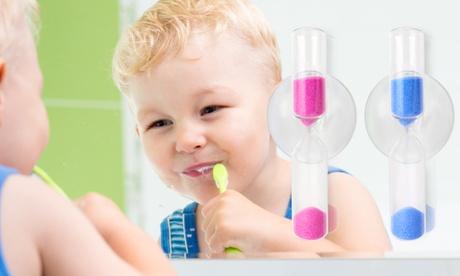 Cepillo de dientes de bebé con reloj de arena giratorio y ventosa Oferta en Groupon