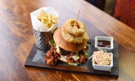Burger and Beer for Two at The Canal Turn (Up to 54% Off)