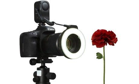 Macro Ring 48-LED Power Light for Canon, Sony, Nikon, and Sigma Lenses