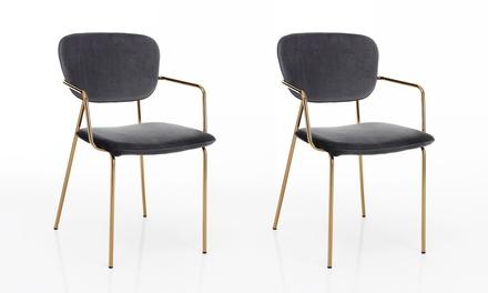 Set di 2 sedie in metallo