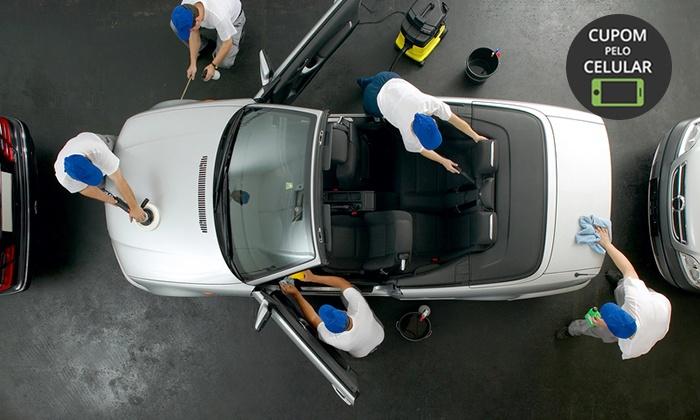 Ecolavagem + cera (opção com polimento, cristalização de vidros e mais) na Boutique Automotiva – Águas Claras